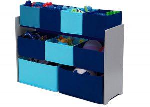 Delta children deluxe multi-bin toy organizer